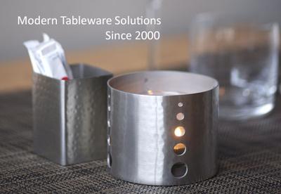 Modern Restaurant Tableware Bread Baskets Salt Pepper Shakers - Restaurant candle holders for table